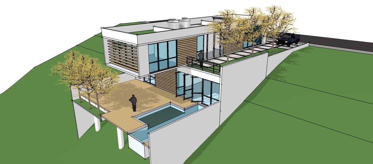 ideias jardins moradiasConstrução em Terrenos Inclinados