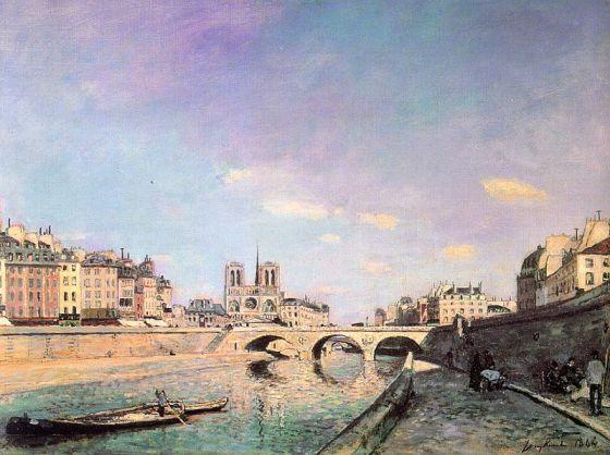 O Sena e Notre-Dame de Paris – Johan Barthold Jongkind – 1864