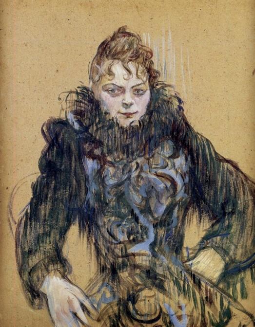 Femme au boa noir - Henri de Toulouse-Lautrec - 1892