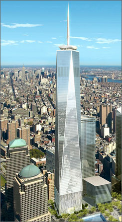 Freedom Tower, a torre que ocupará o lugar do antigo World Trade Center  foi projetada com auxílio da tecnologia BIM
