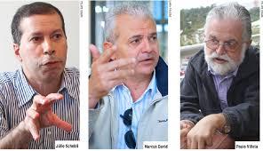 Candidatos a reitor chapas 10, 30 e 20. Fonte:  www.tribunademinas.com.br