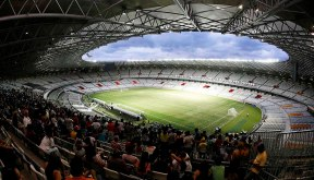 A general view of the Mineirao stadium during its inauguration in Belo Horizonte