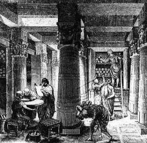 A antiga biblioteca. Fonte: bibliotecadafocca.blogspot.com