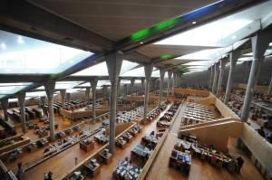 A sala de leitura. Fonte: snohetta.com