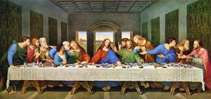 A laje nervurada não é uma invenção moderna. Aqui ela é retrada em um quadro de 1498, do pintor Leonardo da Vinci, retratando a Santa Ceia. Fonte: Infoescola