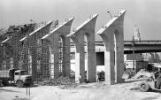 Construção das arquibancadas do sambódromo