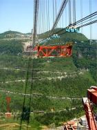 Construção da ponte de Aizhai.