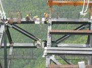 Construção da ponte Siduhe.