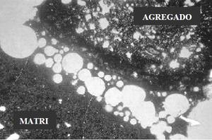 Acúmulo de bolhas de ar ao redor do agregado leve decorrente da absorção de água (Fonte: EUROLIGHTCON, 2000c).