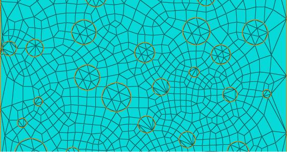 Malha de elementos finitos, com destaque para os agregados