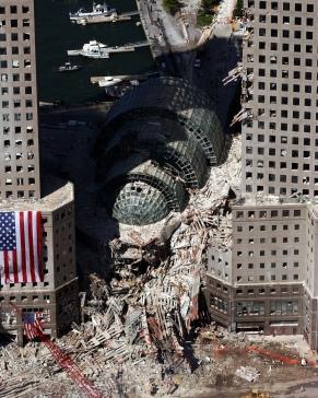 Entulho dos antigos prédios do complexo WTC