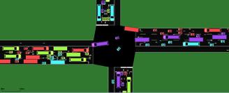 Simulação de veículos em um cruzamento