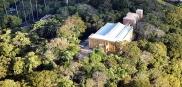 Vista aérea da Casa de Veraneio