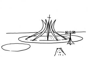Croqui da Catedral.