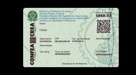 Carteira de Identidade Profissional - Costas