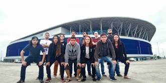 Grupo na Arena do Grêmio